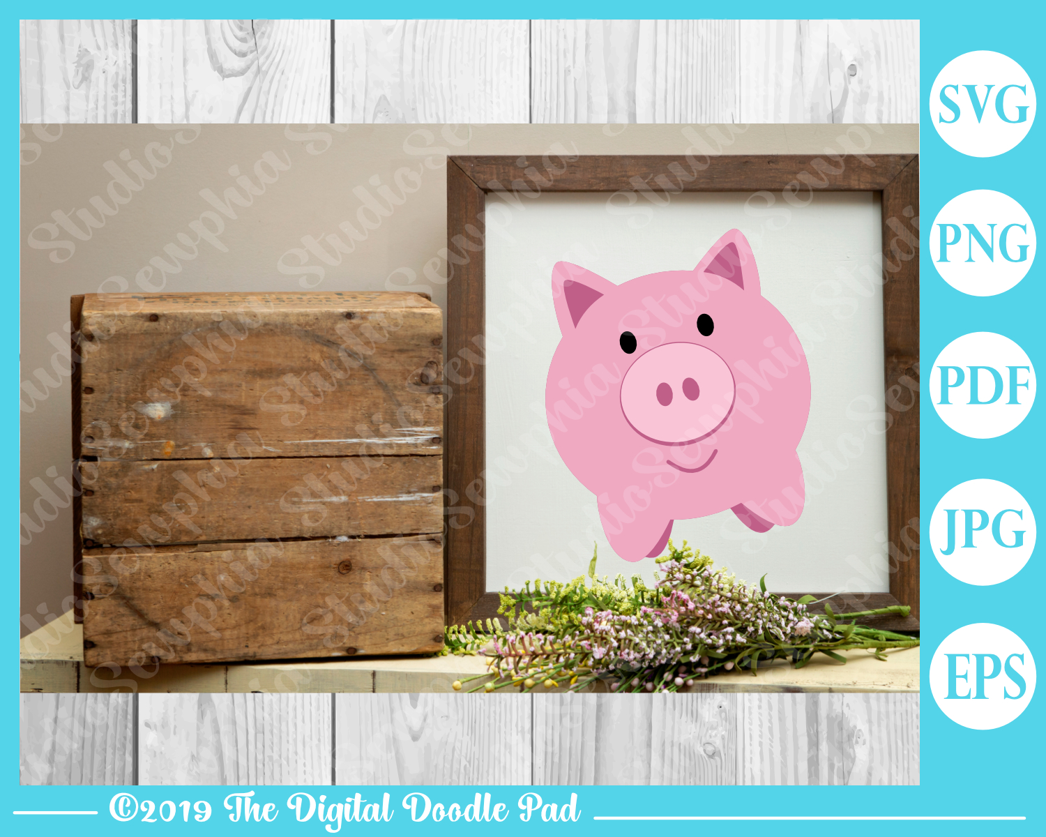 Two Piggies by Digital Doodle Pad example image 3