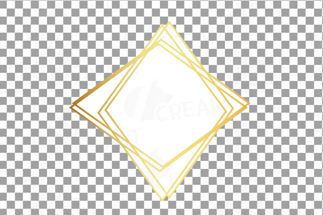 Elegant wedding geometric golden frames, lineal frames png example image 28