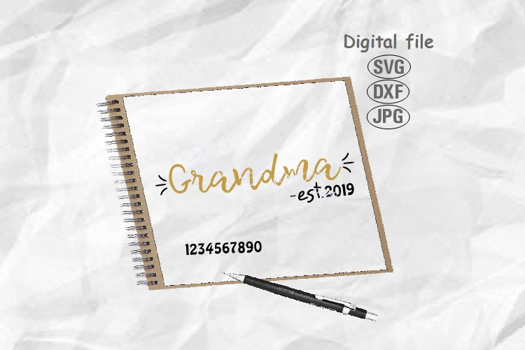 Grandma Est Svg, Grandma Svg, Grandmother Svg,Mother Day Svg example image 1