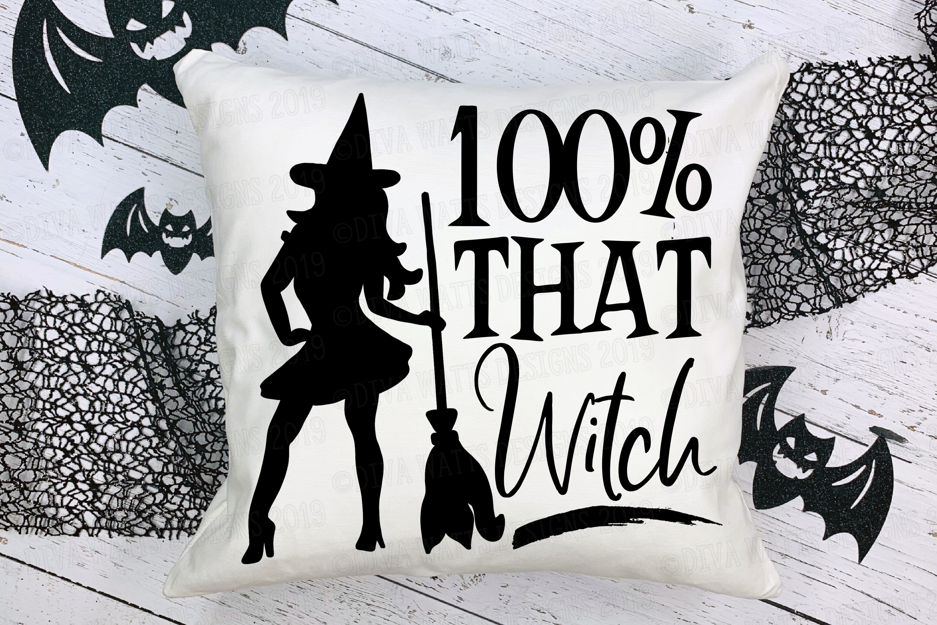 100 percent THAT Witch Halloween Cutting File Sexy Witch example image 2