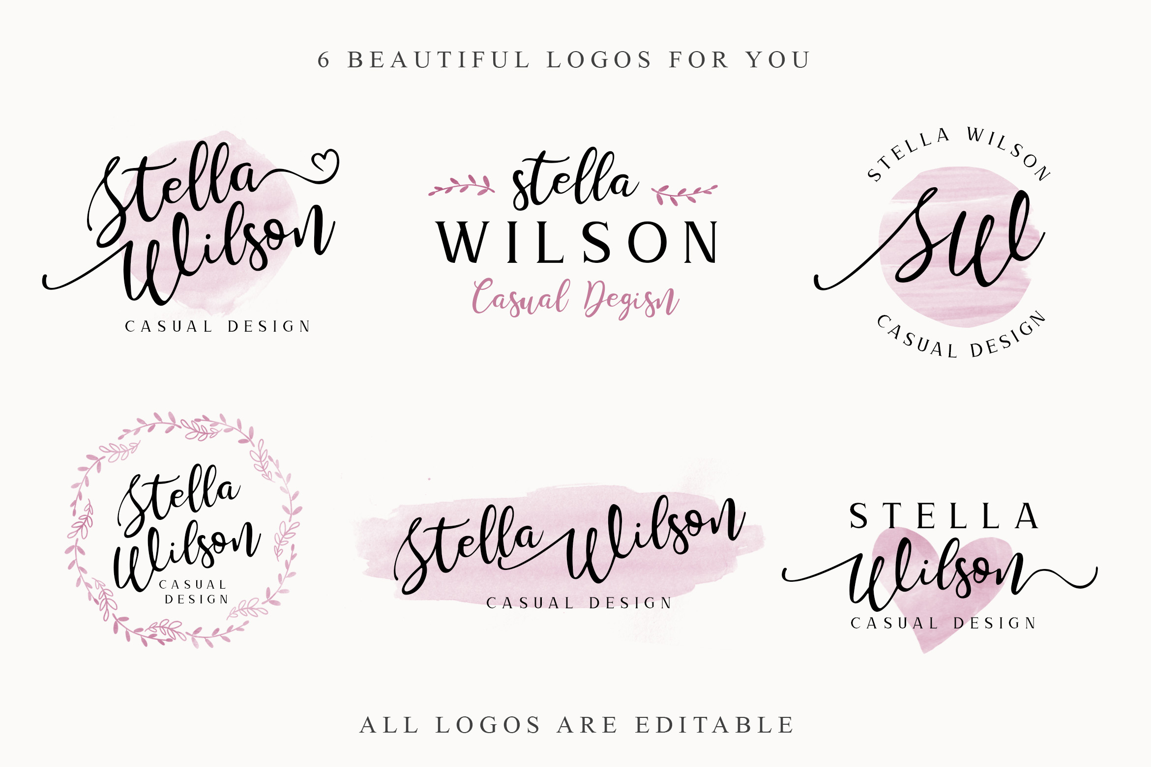 Storyline Font & Watercolour Pack example image 8