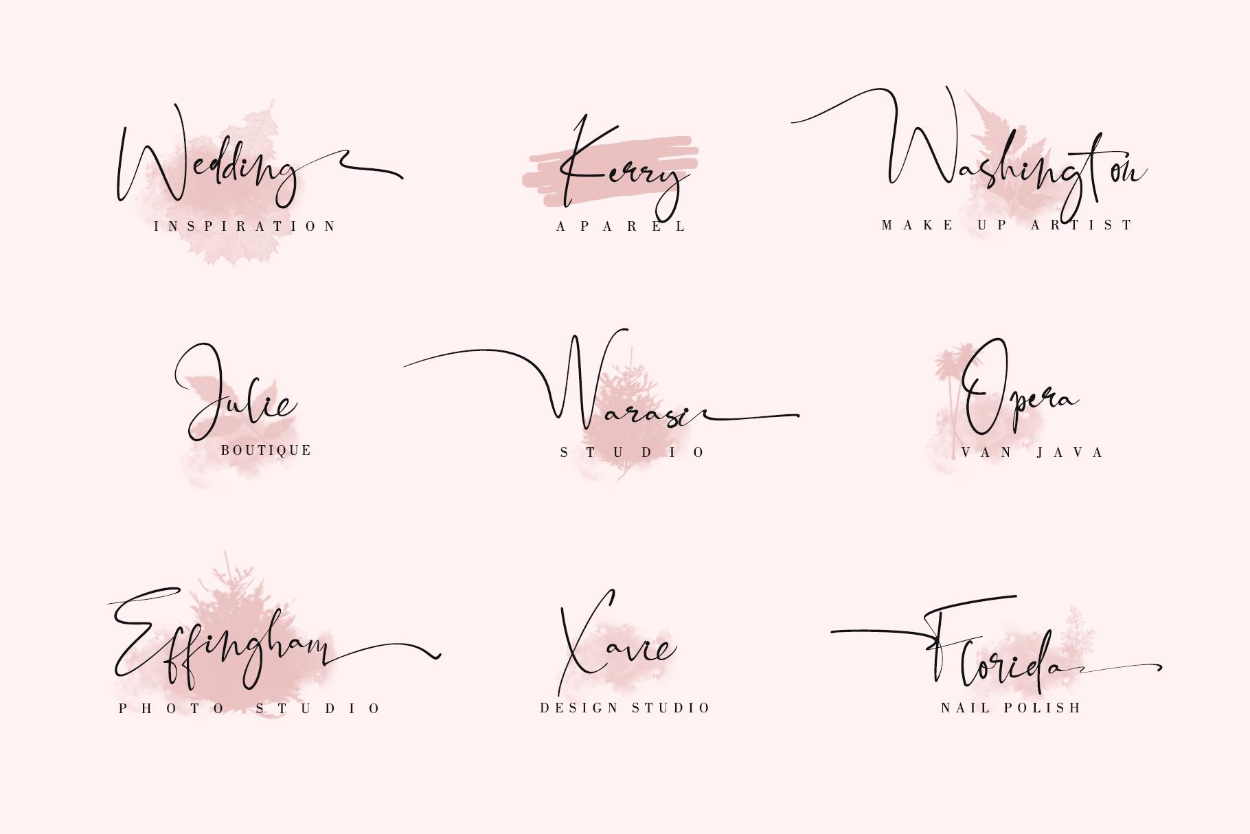 Black Pink Signature example image 3