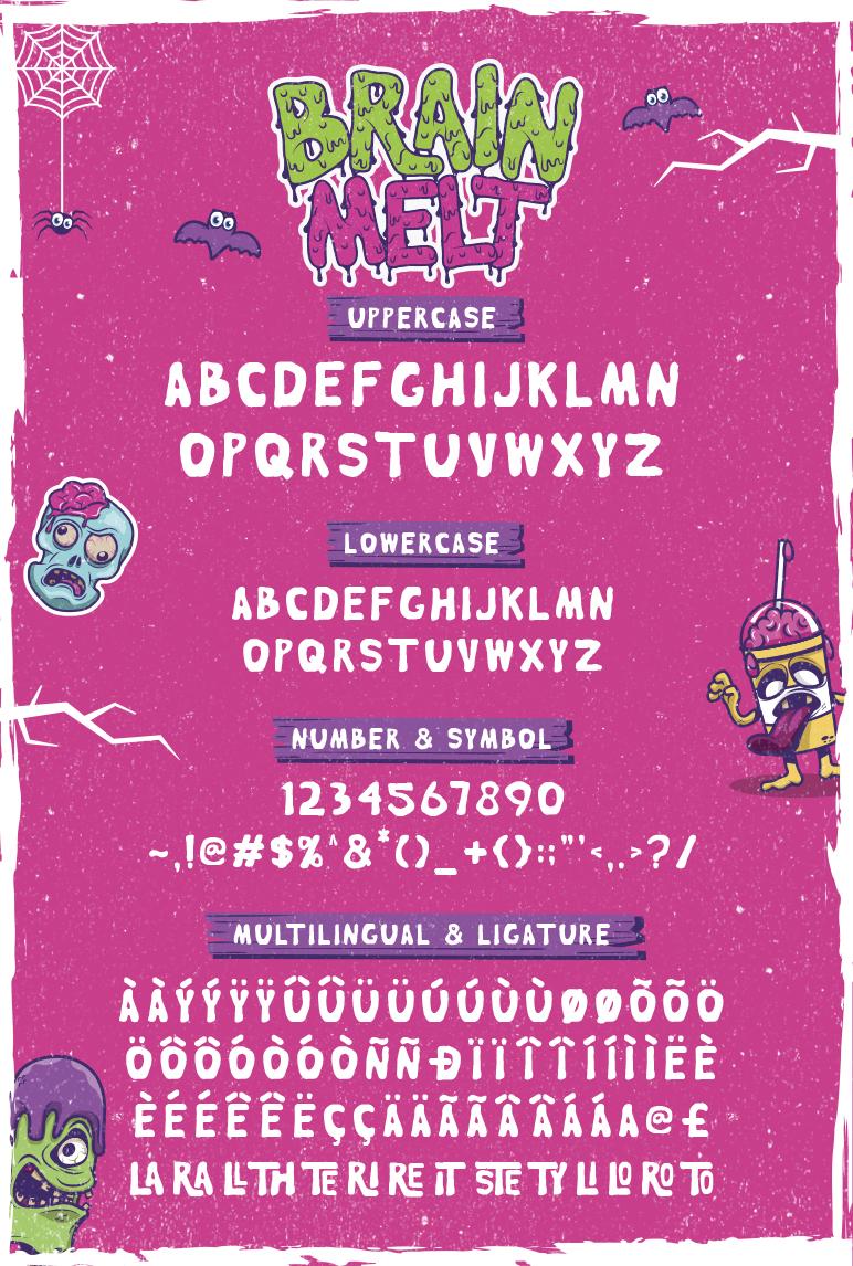 Brain Melt Layered Typeface UPDATE! example image 2