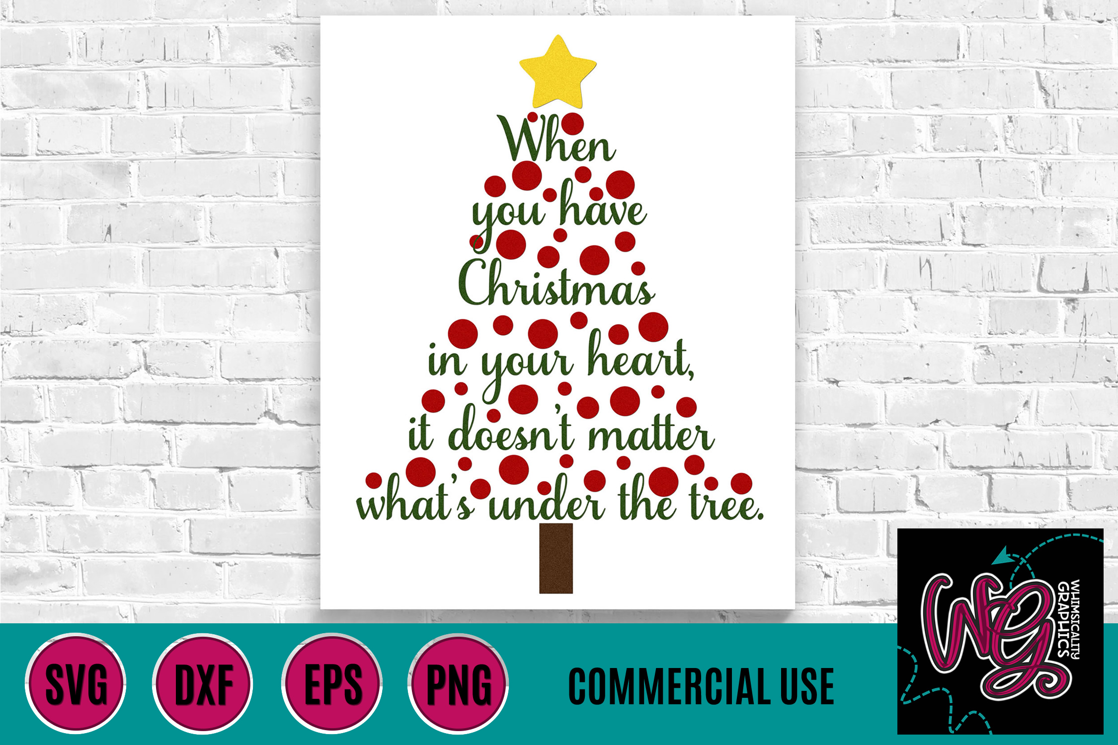 Christmas In the Heart SVG DXF PNG EPS Commercial example image 1