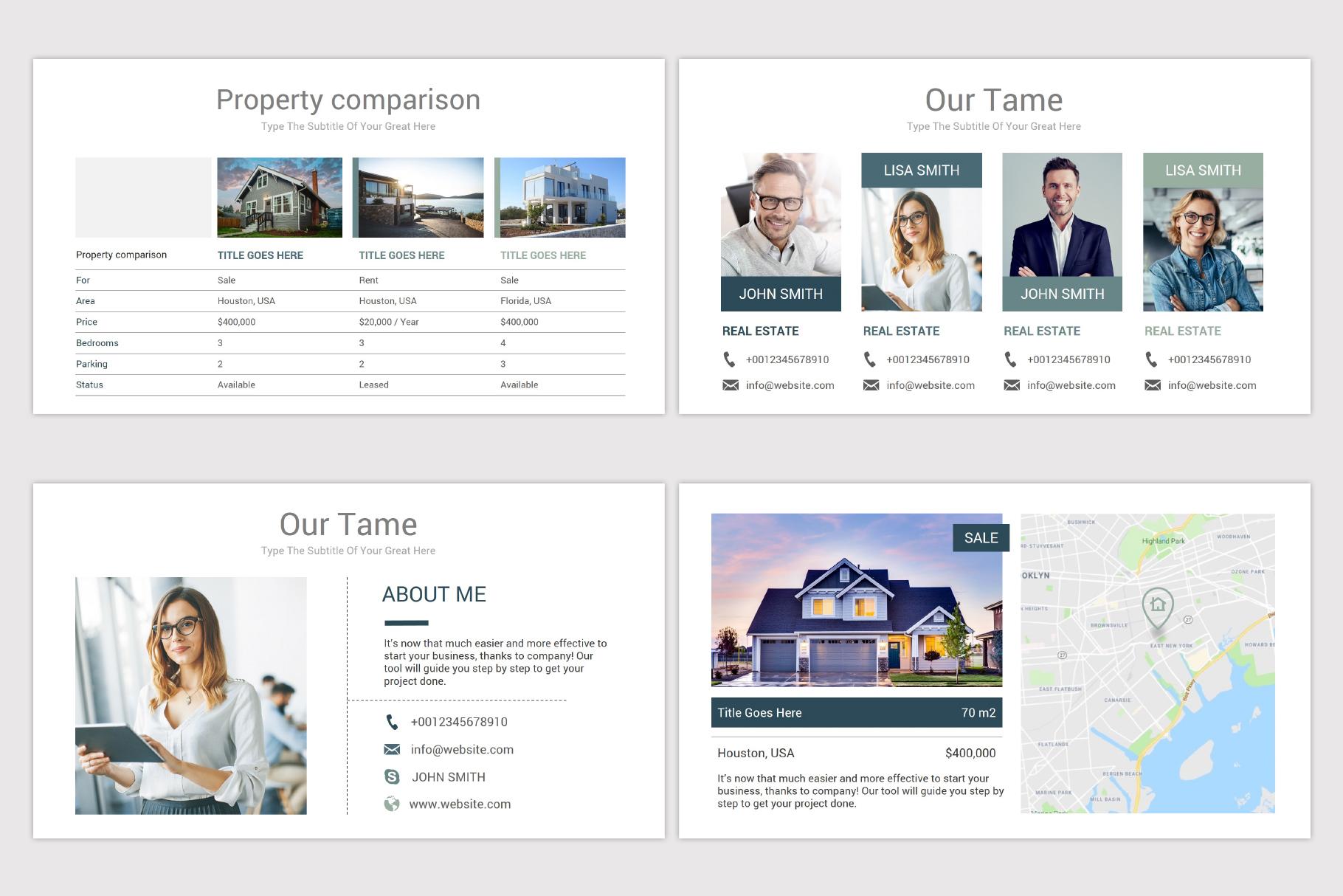 Real Estate Google Slides Template example image 8