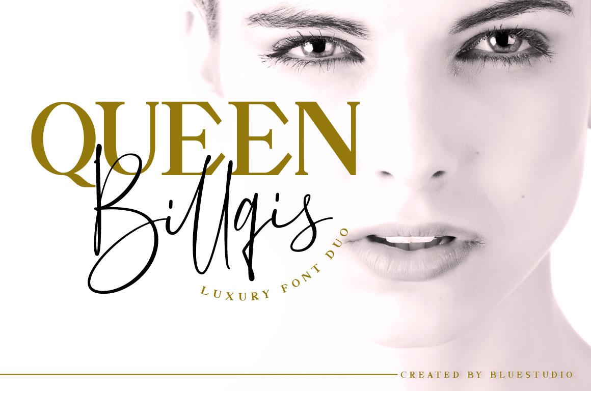 Queen Billqis //Luxury Font Duo example image 1