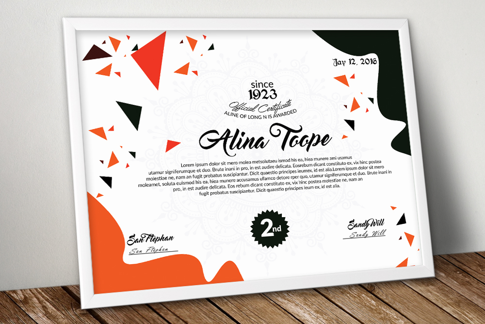 10 Certificates Template Bundle example image 11