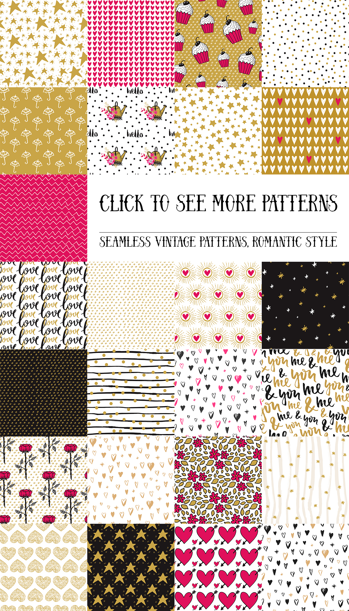 50 Valentine's Day Seamless Patterns example image 2