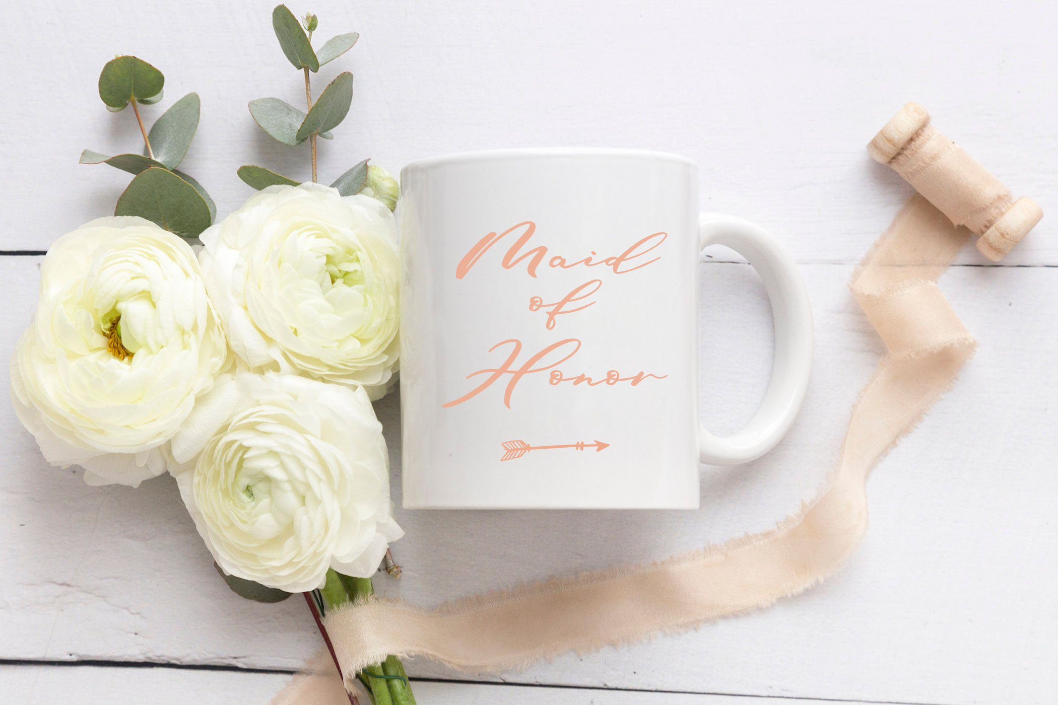 Maid Of Honor - A script font with matching doodles example image 8