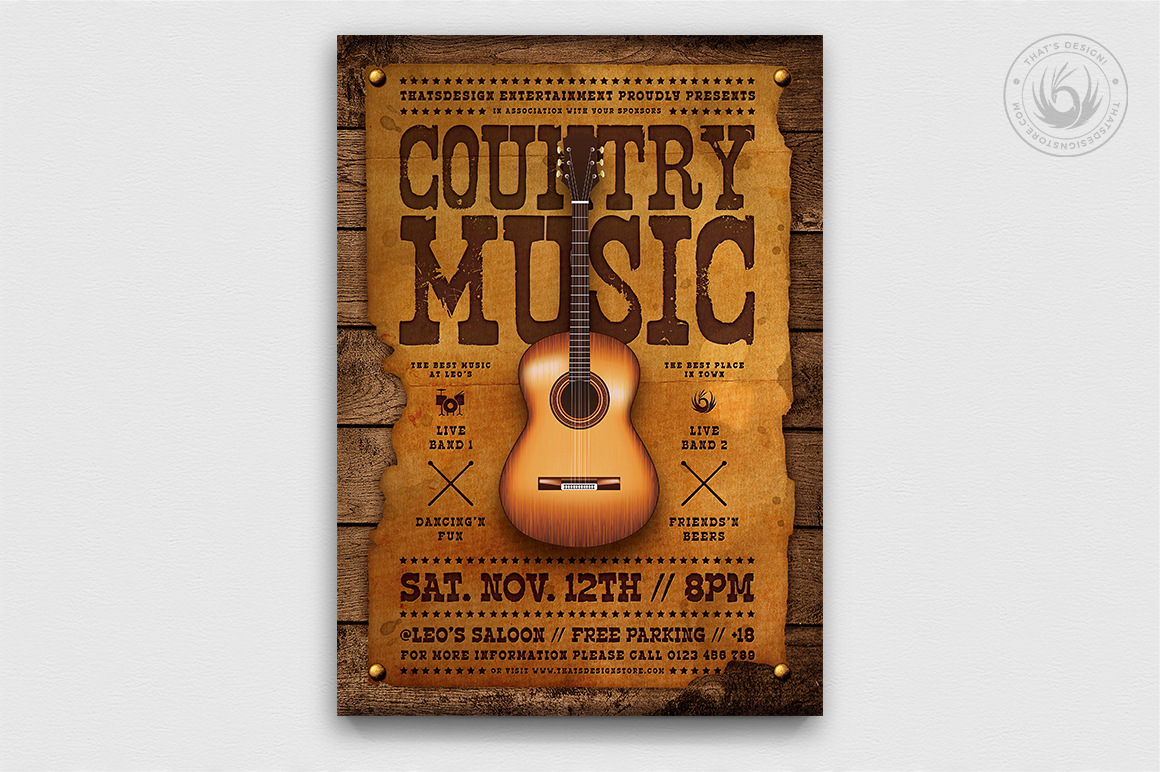 Country Music Flyer Bundle V2 example image 5