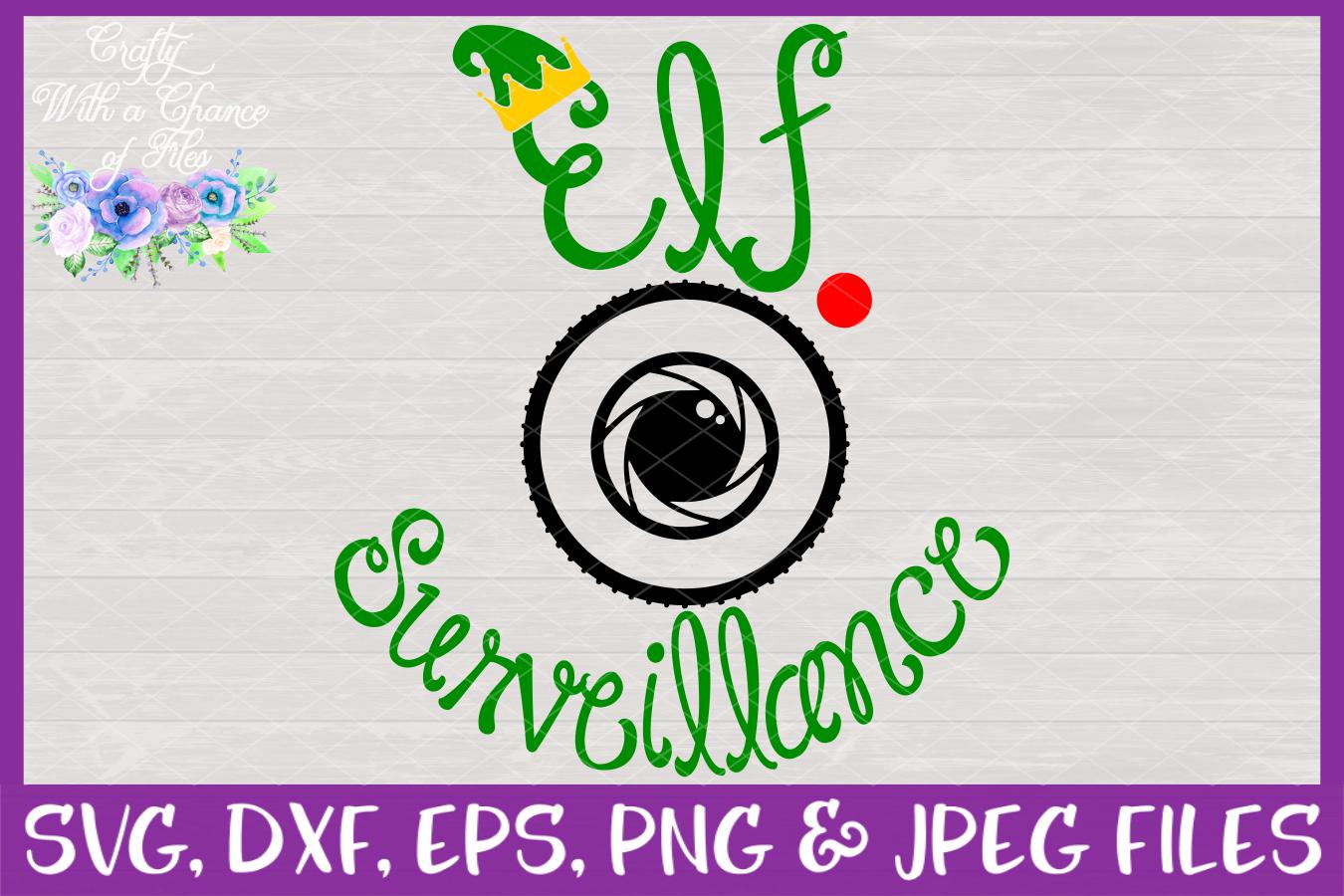 Elf Surveillance SVG - Christmas Ornament Design example image 3