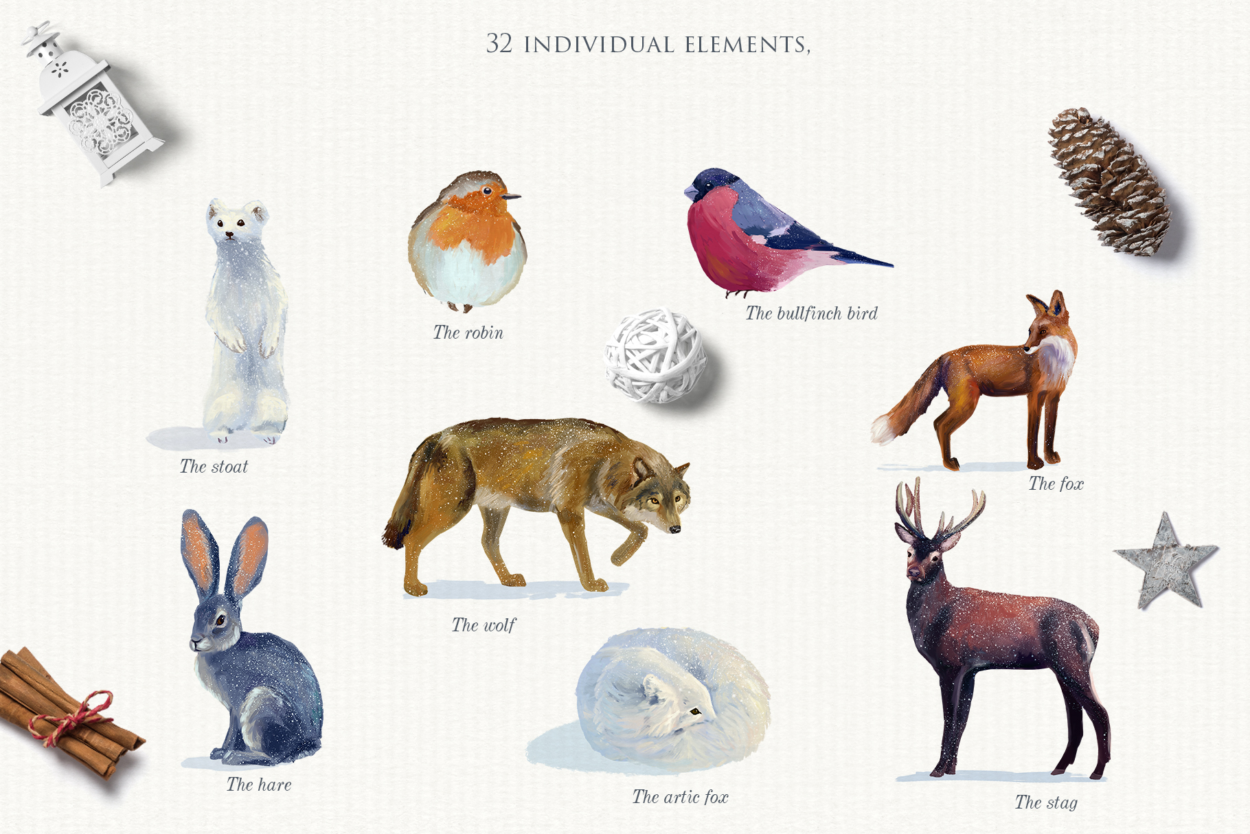 Realistic animals in the forest example image 2