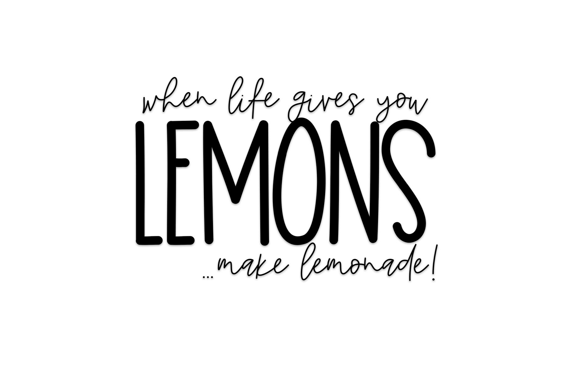 Lemon Lime - A Print/Script Handwritten Font Duo example image 5