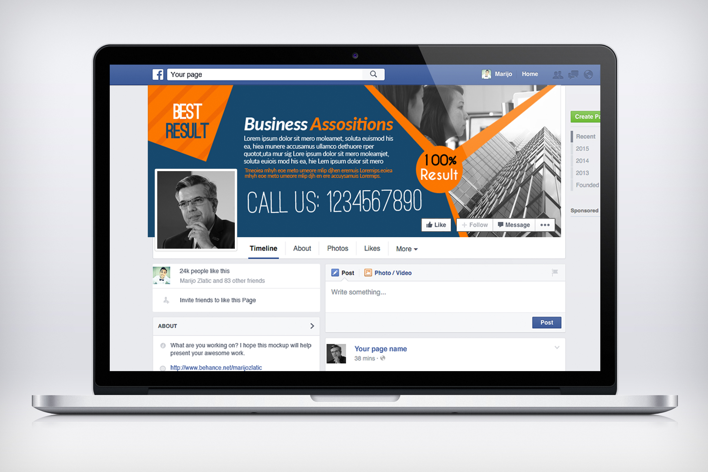 Business Facebook Timelines 05 example image 3