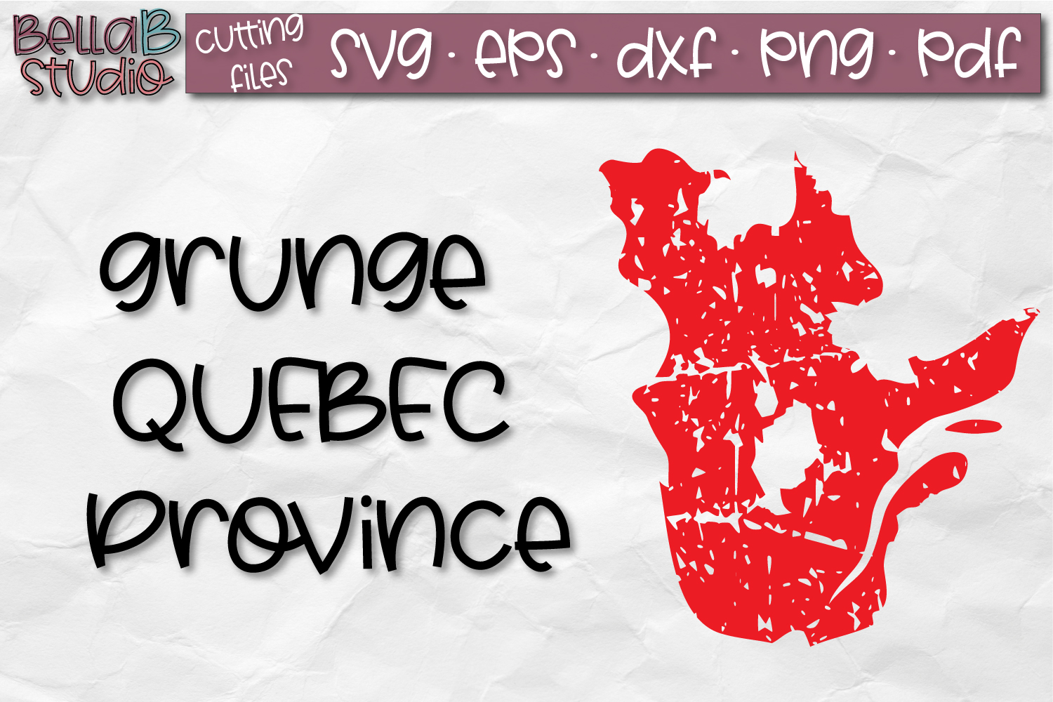 Quebec SVG, Canada SVG, Canadian SVG, Distressed, Grunge SVG example image 1