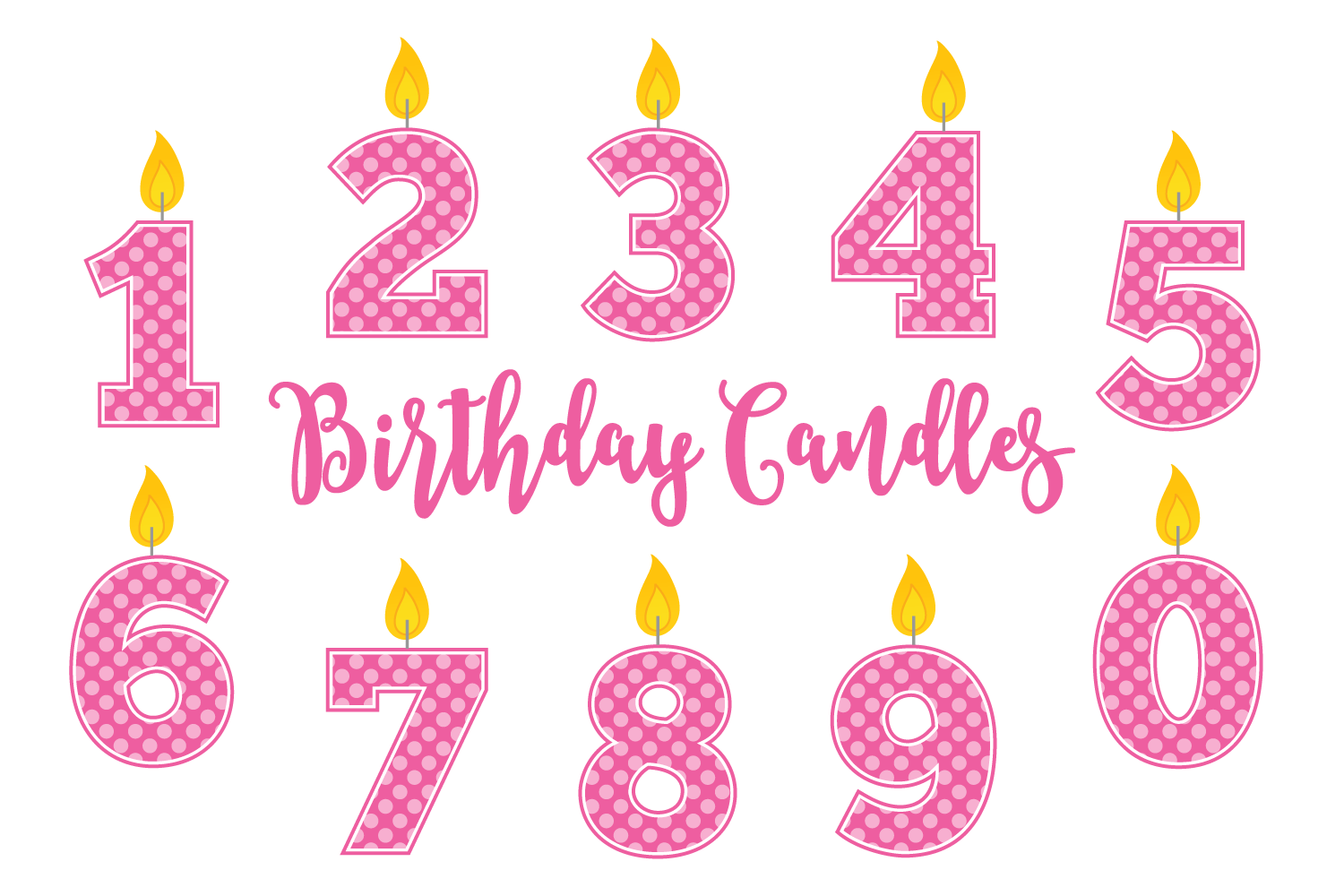 Library Of Birthday Candle Clip Art Png Files Clipart Art 2019