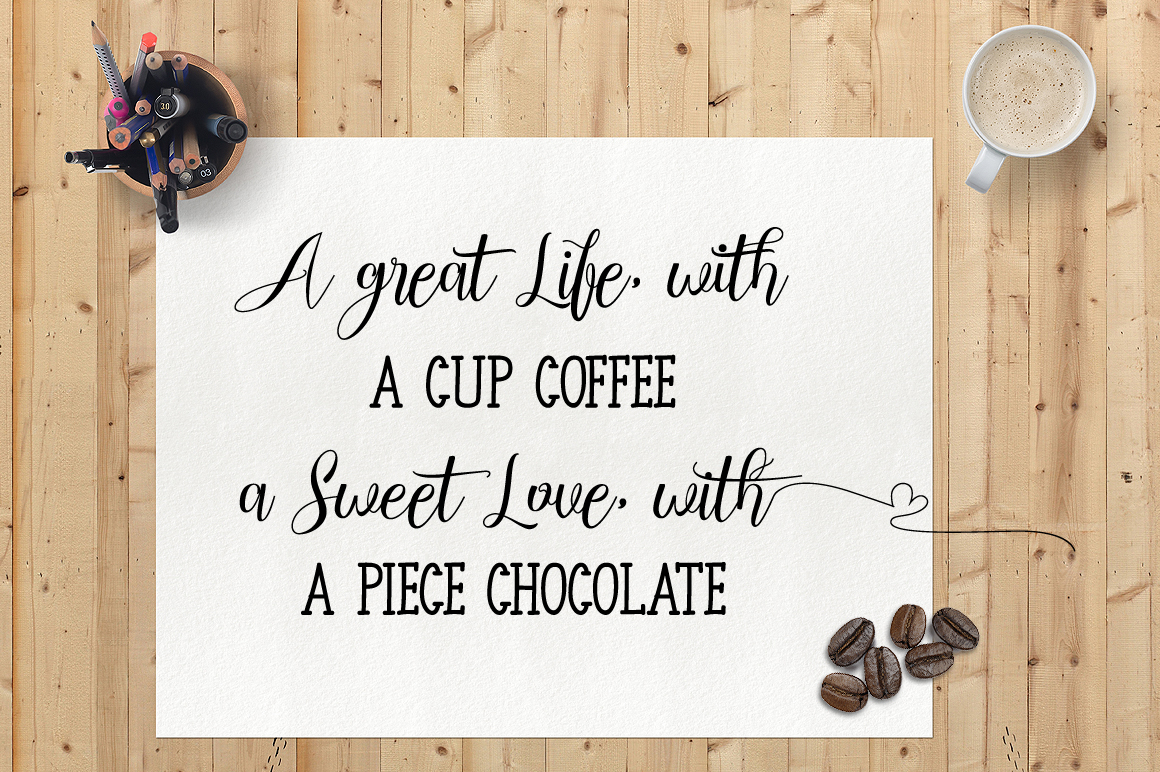 Chocolate Milky - Font Duo example image 3