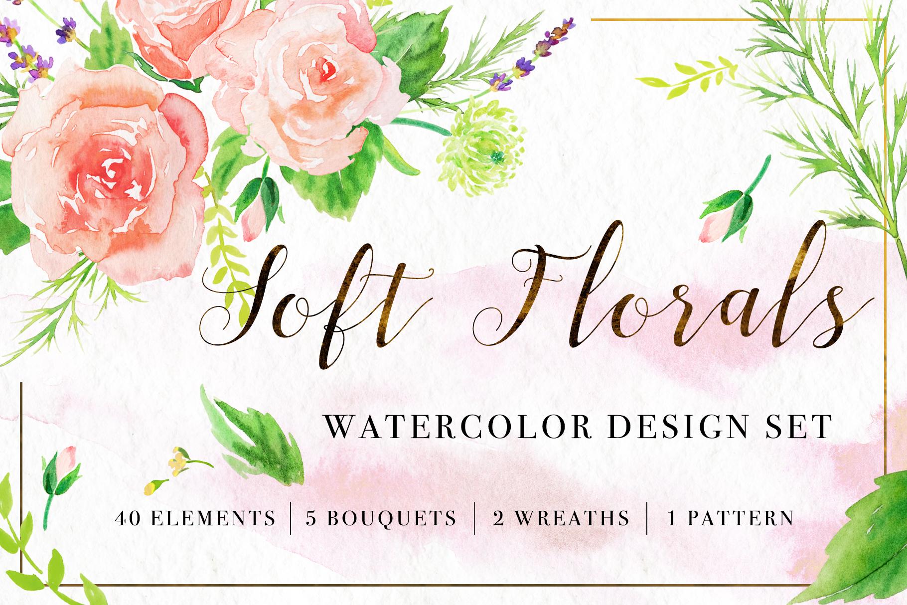 Floral Watercolor Bundle example image 24