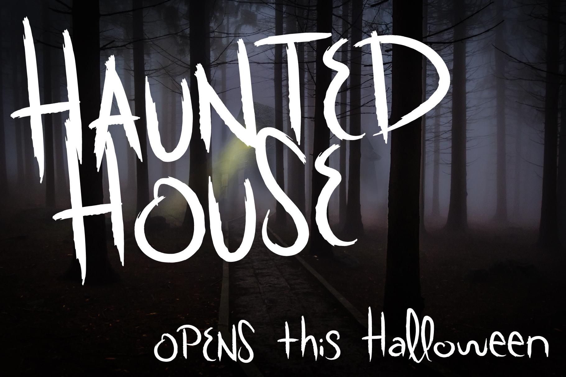 Scratchy Door Halloween Font example image 6