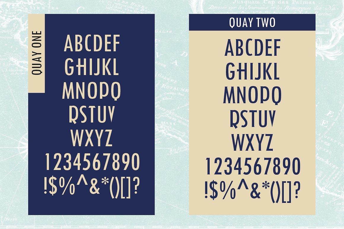 Quay Font Bundle & Bonus Logos example image 5