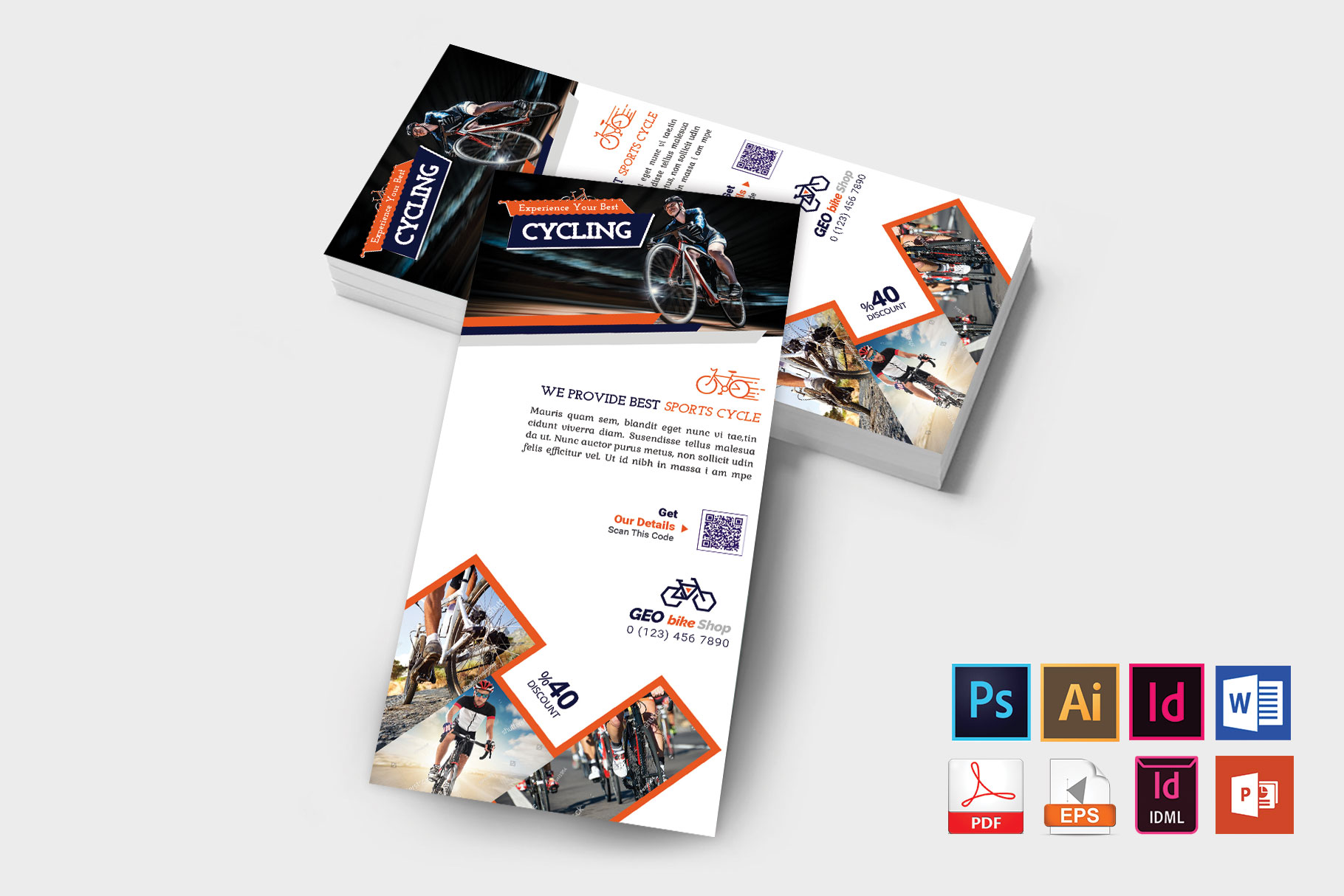 Rack Card | Cycle Shop DL Flyer Vol-01 example image 2