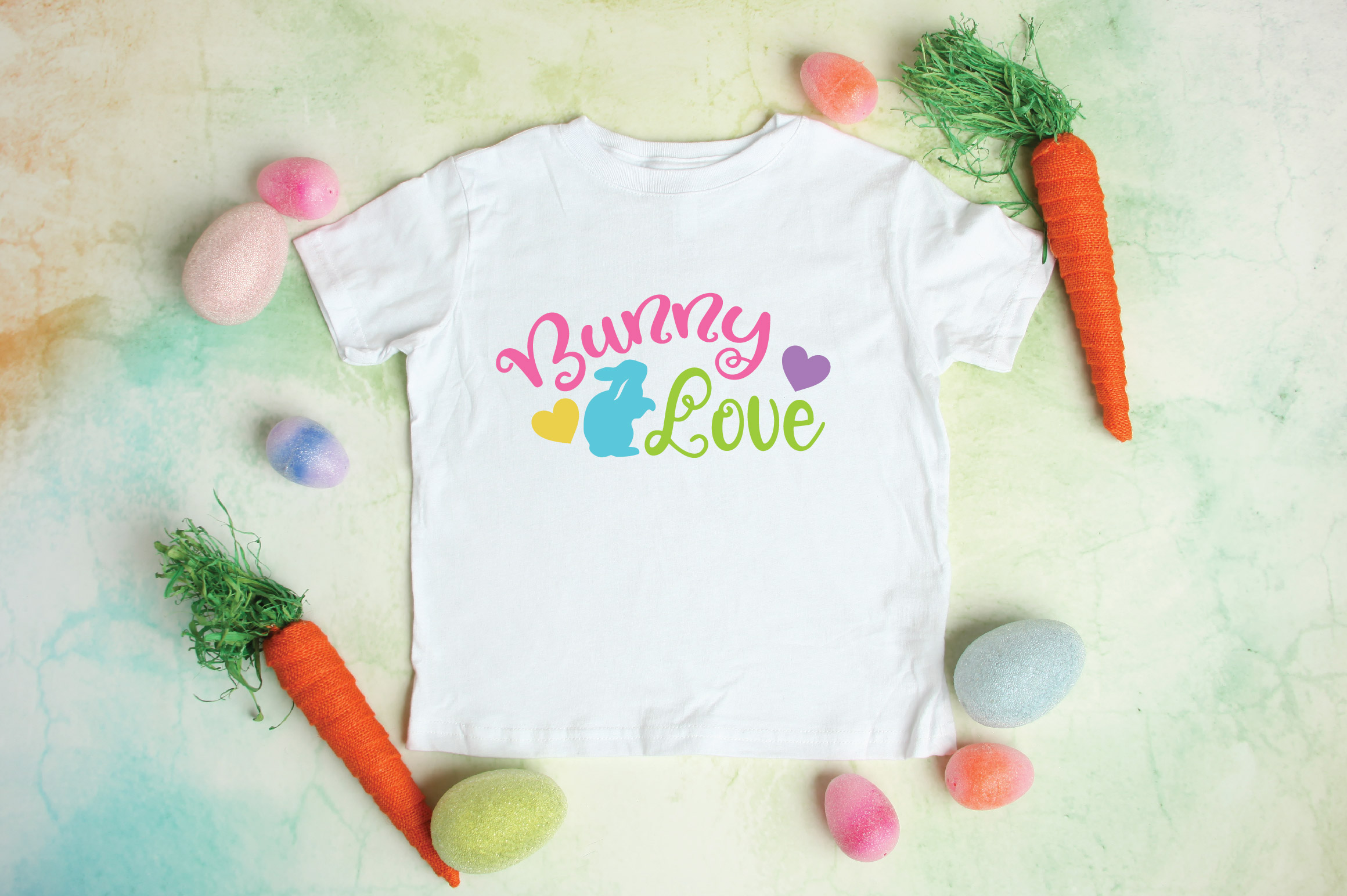 Easter SVG Cut File - Bunny Love SVG DXF EPS PNG AI example image 2