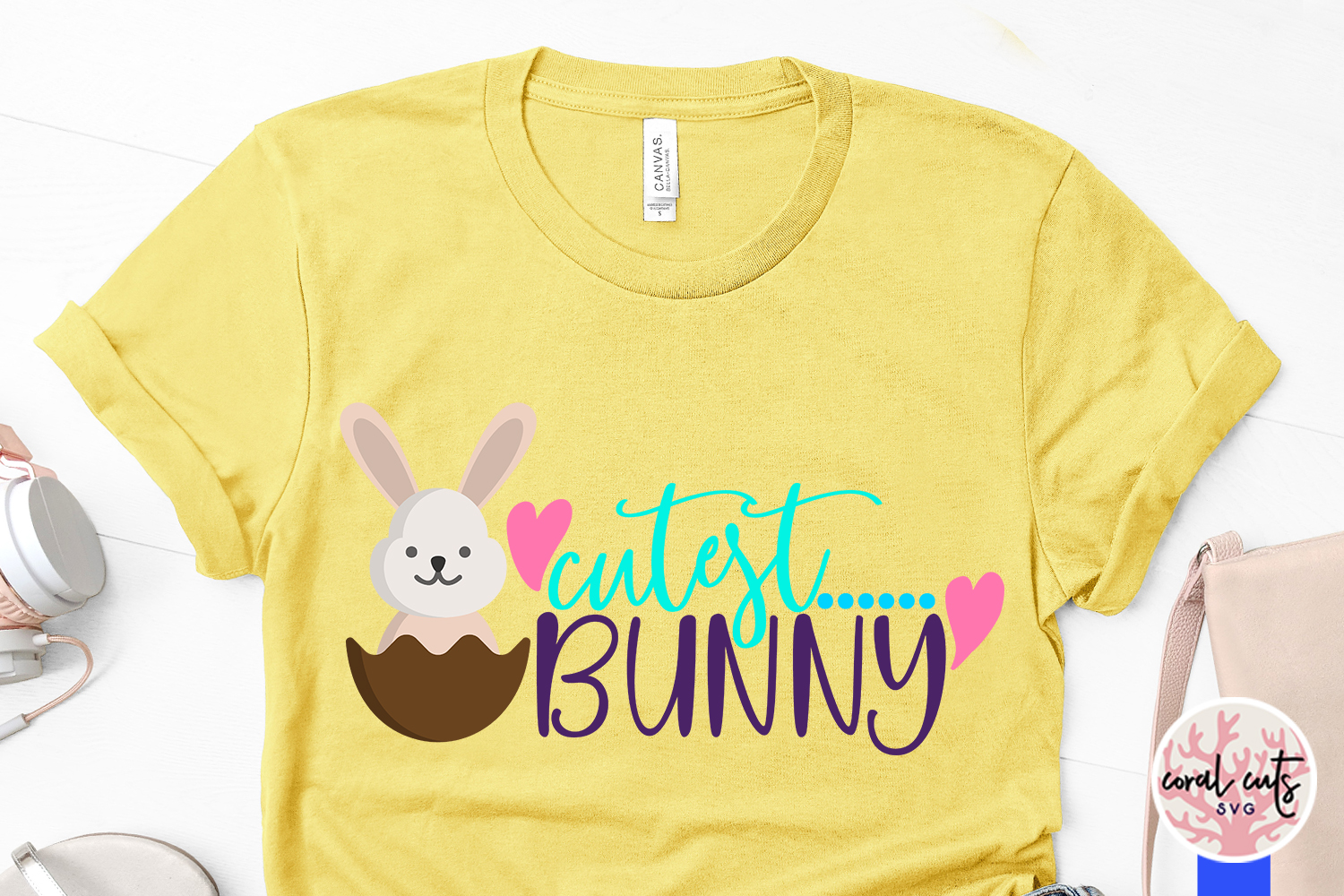 Cutest bunny - Easter SVG EPS DXF PNG Cutting File example image 3