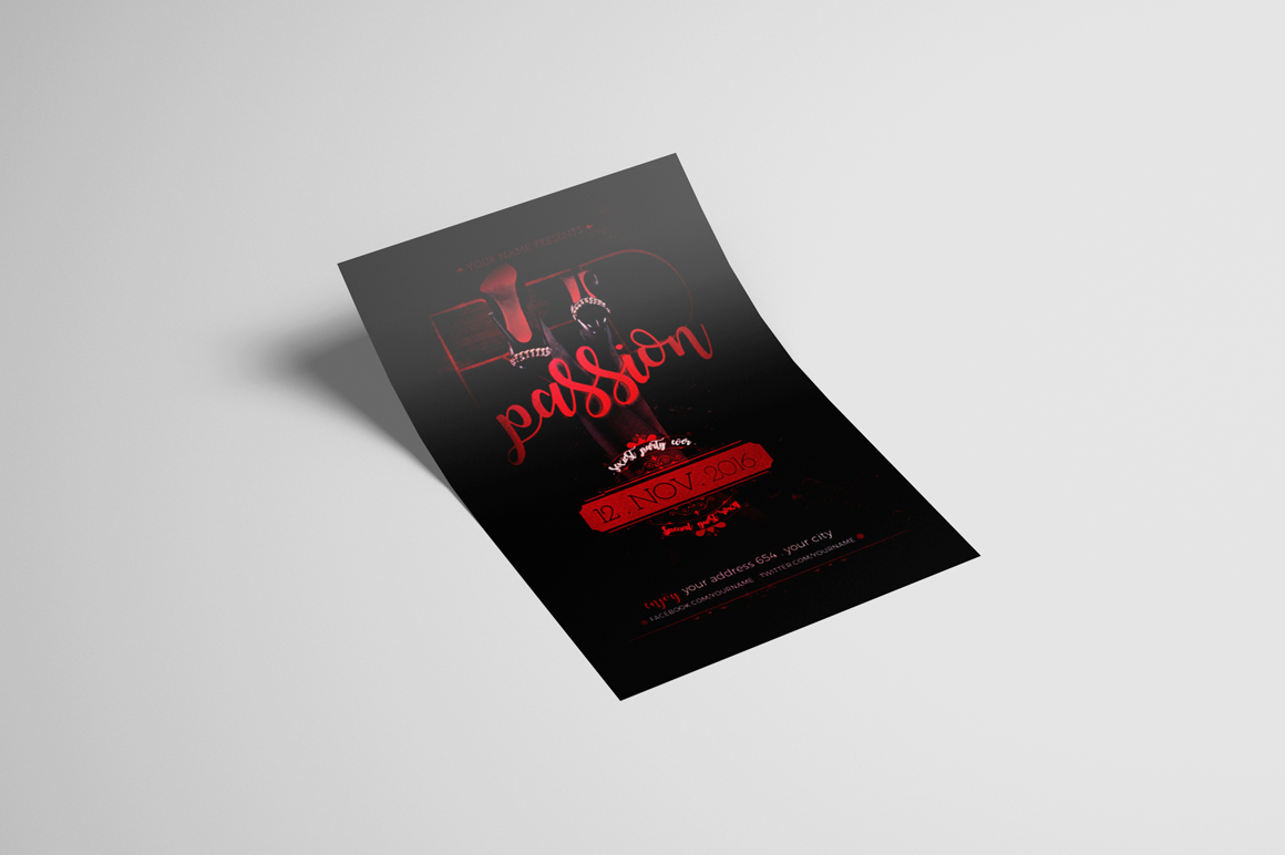 Red Passion Flyer Template example image 2