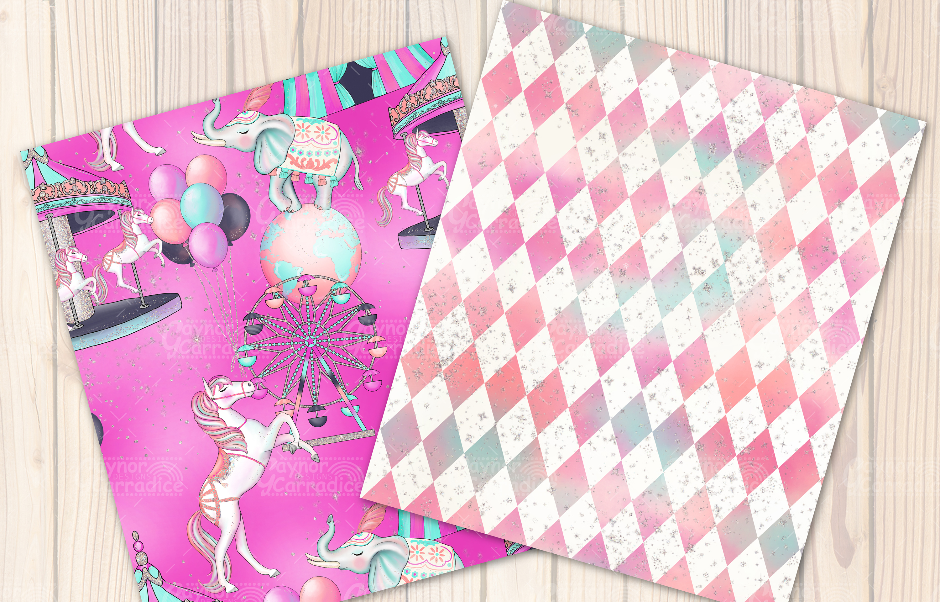 Cirque - Circus Seamless Pattern collection example image 3