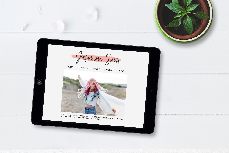 River Jade, signature font script, Logos & bonus clipart example image 2