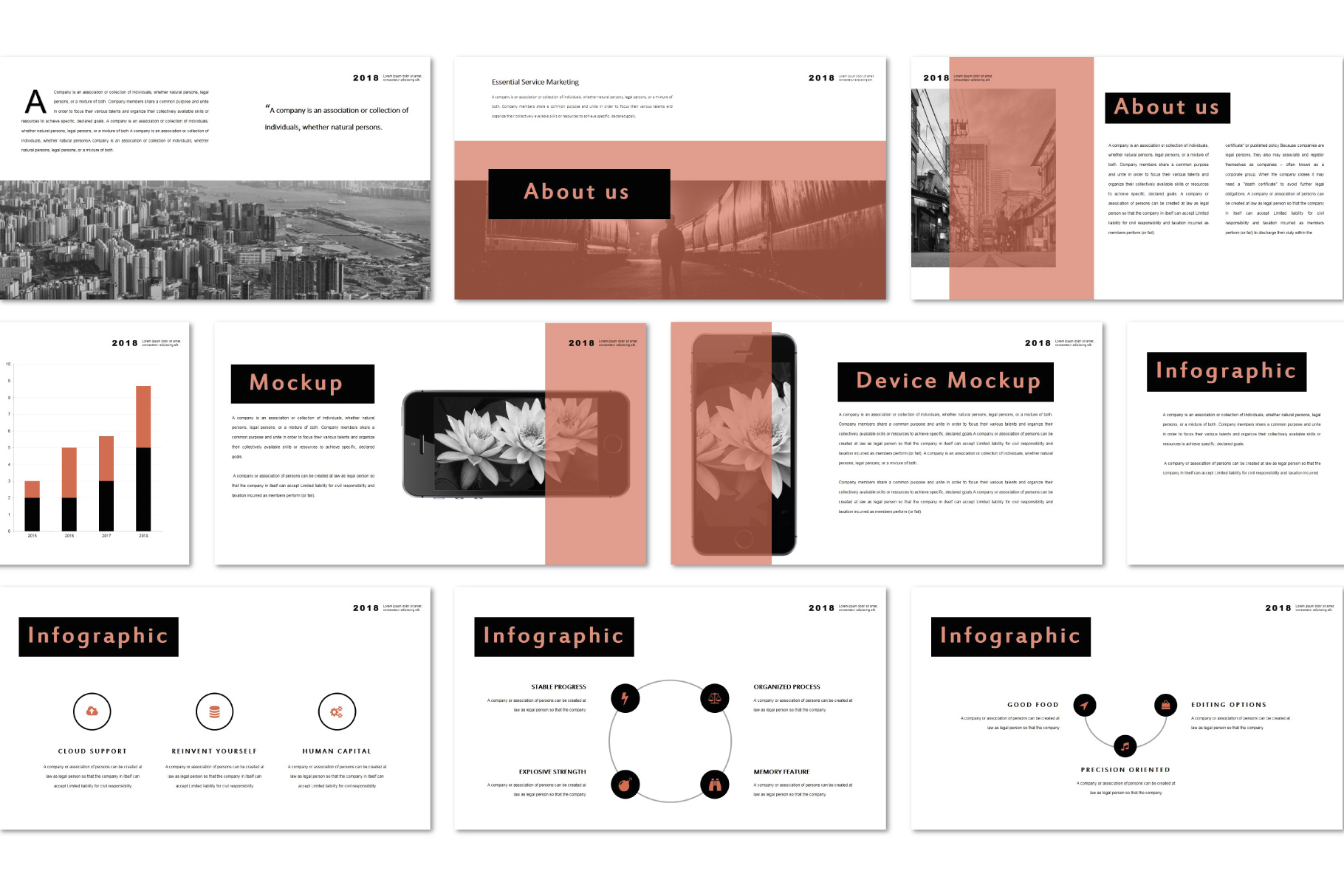 Conquer PowerPoint Templates example image 6