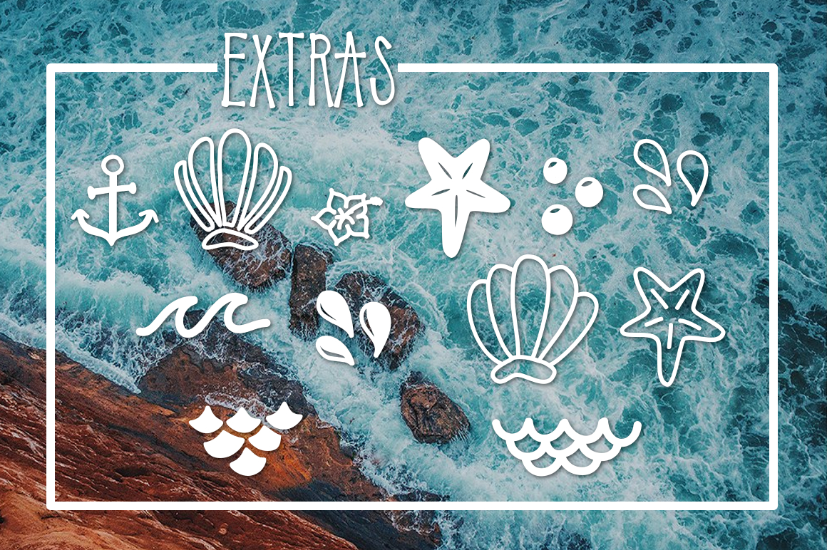 Mermaid Tails a Handwritten Typeface example image 3