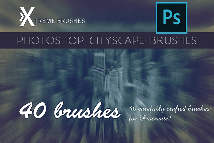 Photoshop Cheat Brushes - Cityscape example image 1