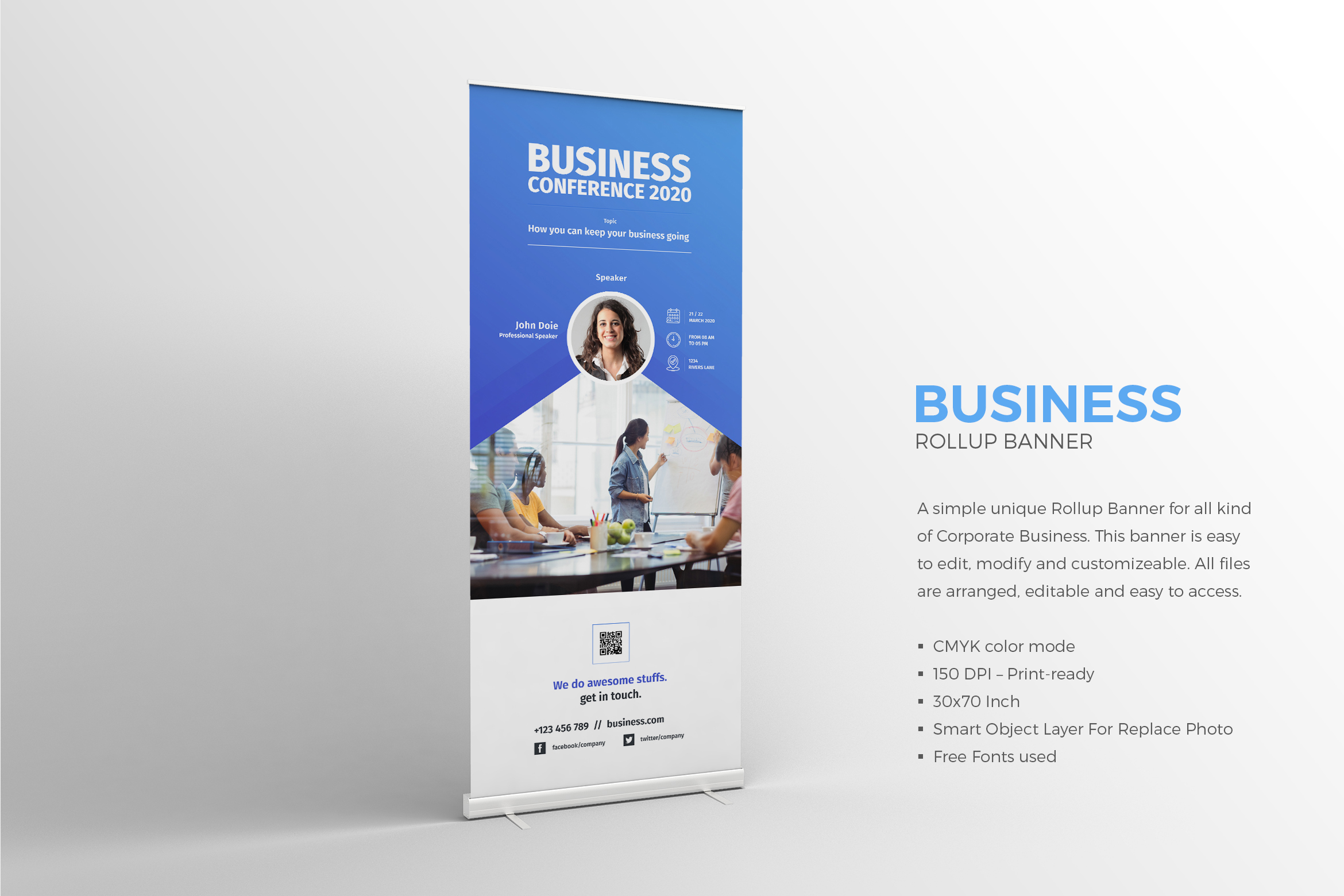 Conference Roll-up Banner example image 1