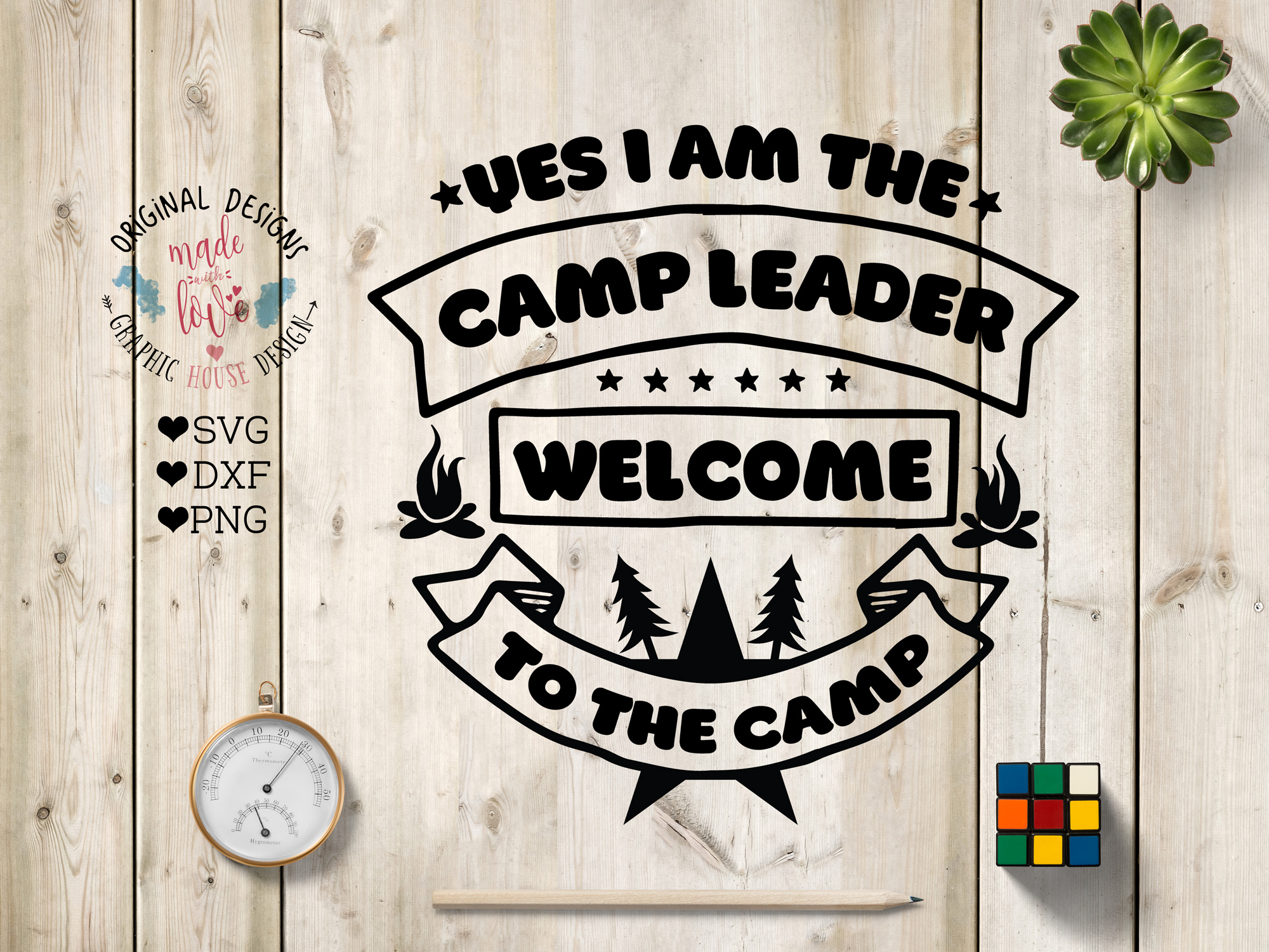 Camp Leader Welcome to the Pack Cut File and Printable in SVG, DXF, PNG example image 1