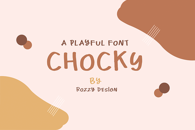 Chocky A playful Font example image 1