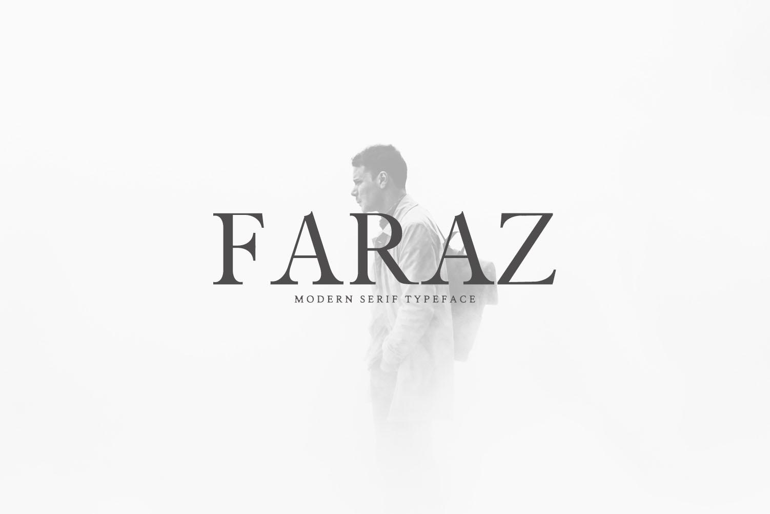 Faraz Modern Serif Font Family example image 1