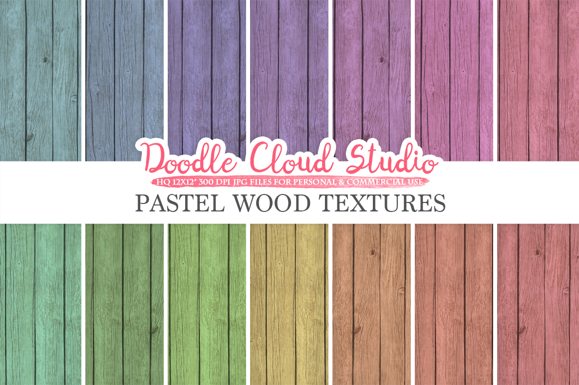 Real Wood digital paper, Pastel Rainbow Colors, Wood Printables, Wood Backgrounds, Rustic Wood textures, Instant Download, Commercial Use example image 1