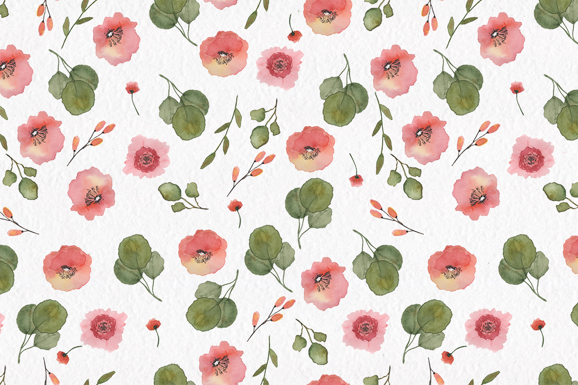 Spring florals. Watercolor floral collection. example image 6