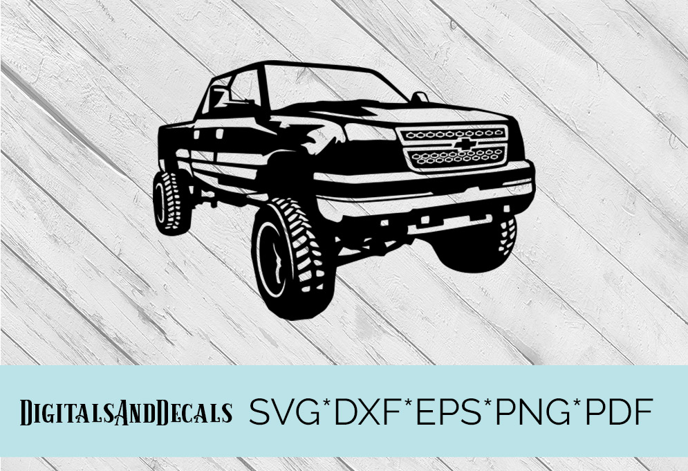 Chevy Truck SVG Cutting File  example image 1