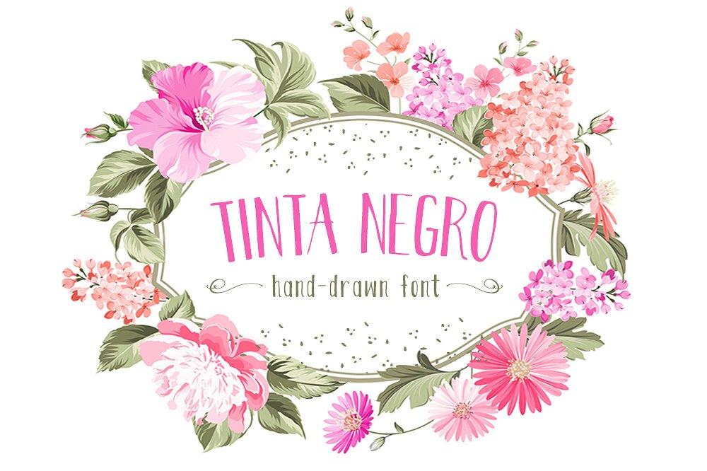 Tinta Negro Font example image 1