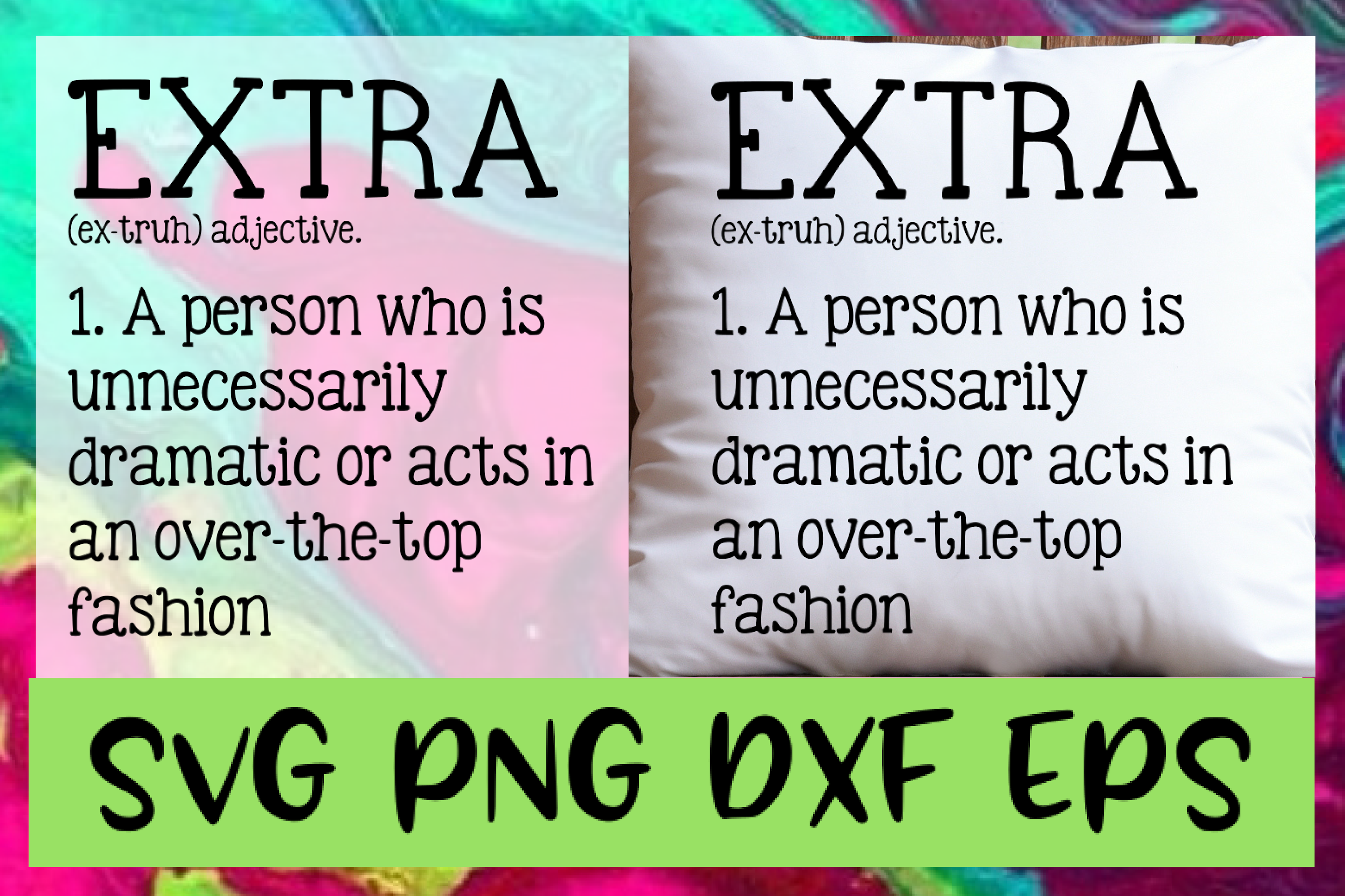Extra Quote Definition SVG PNG DXF & EPS Design Files example image 1