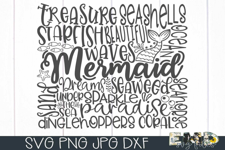 Mermaid Subway Art Svg File example image 3