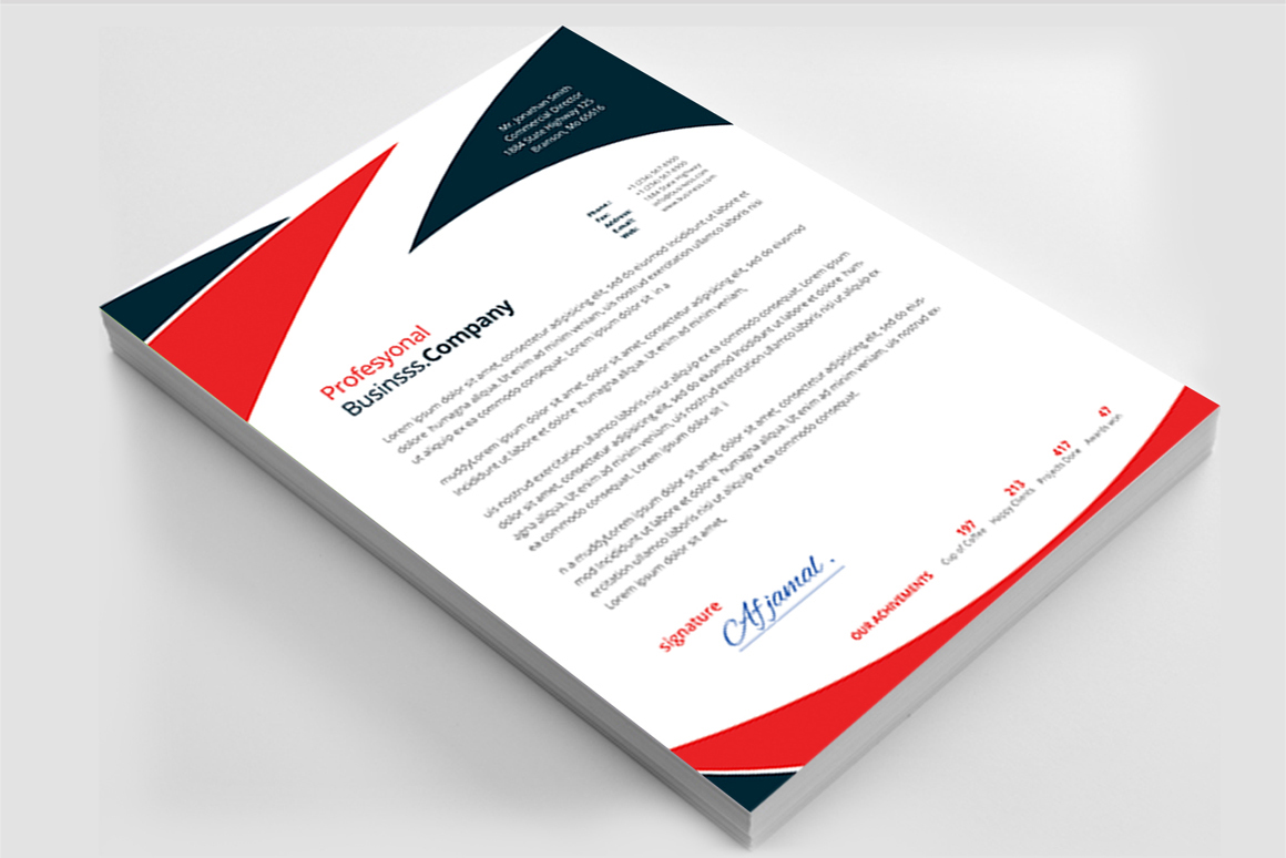 12 Clean Rsume Invoice and Letterhead Bundle example image 23