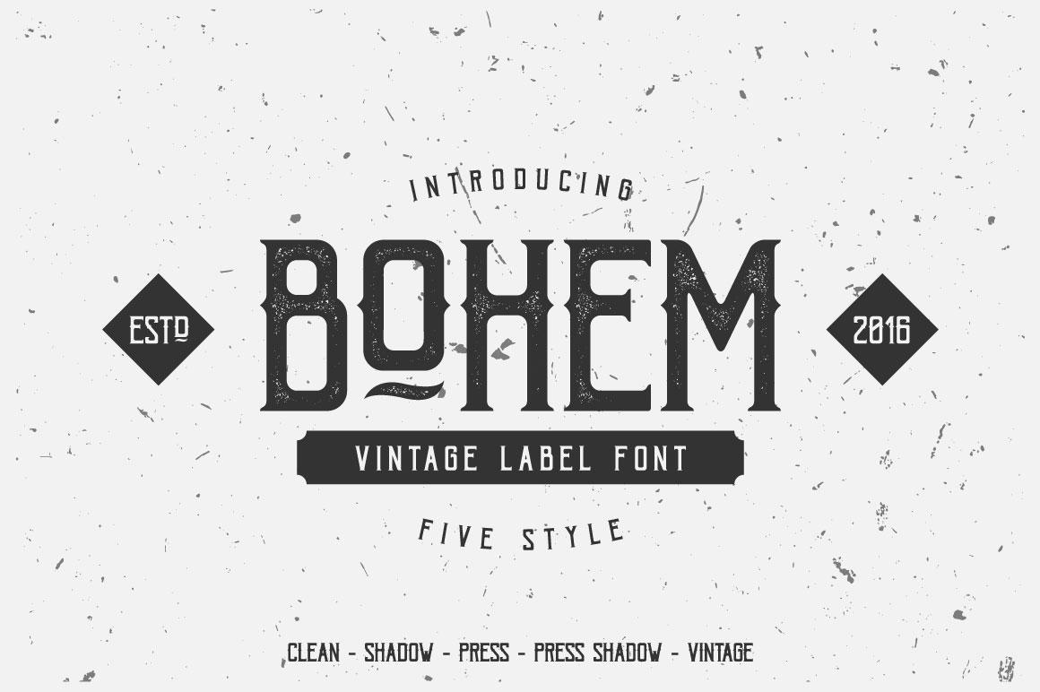 Bohem Typeface - 5 Font Styles example image 1