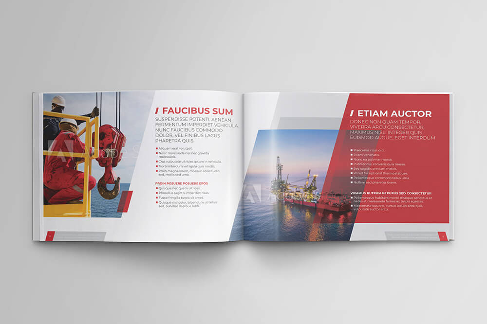 Offshore Oil and Gas Booklet Design Template example image 4
