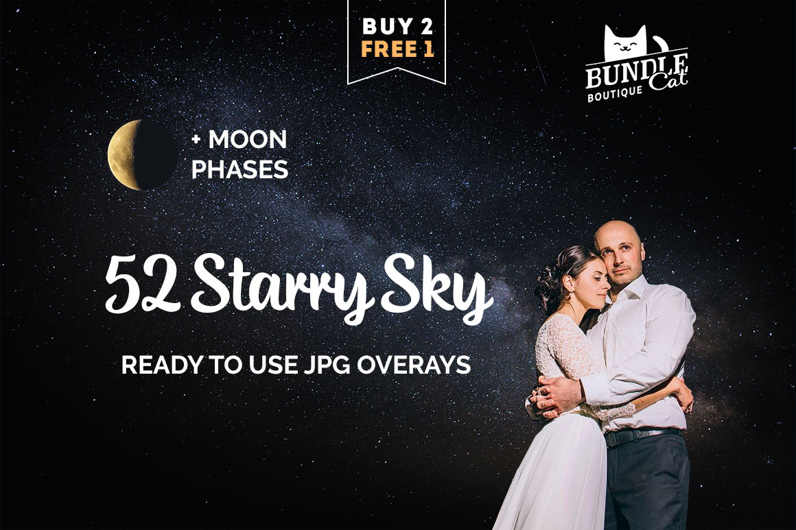 52 Starry Sky Photoshop Overlays example image 1