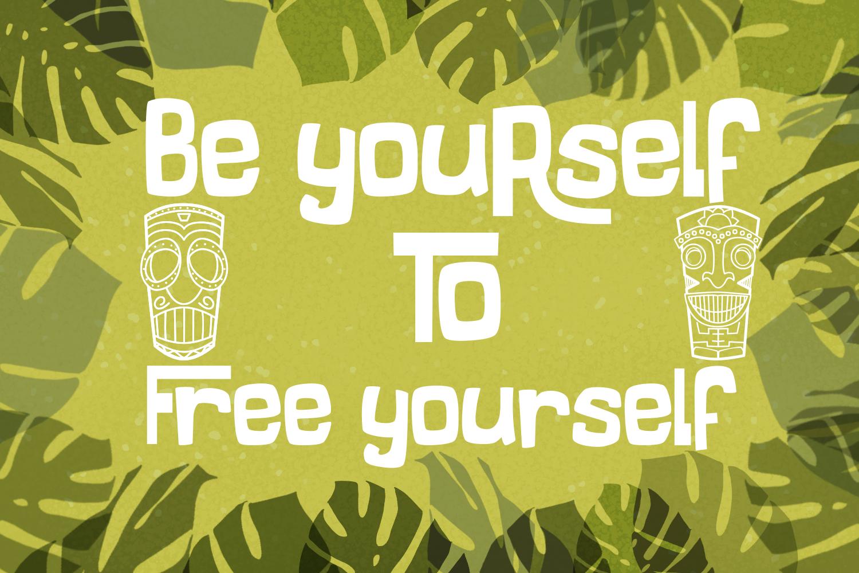 Freaky Tiki - a fun tropical font example image 9