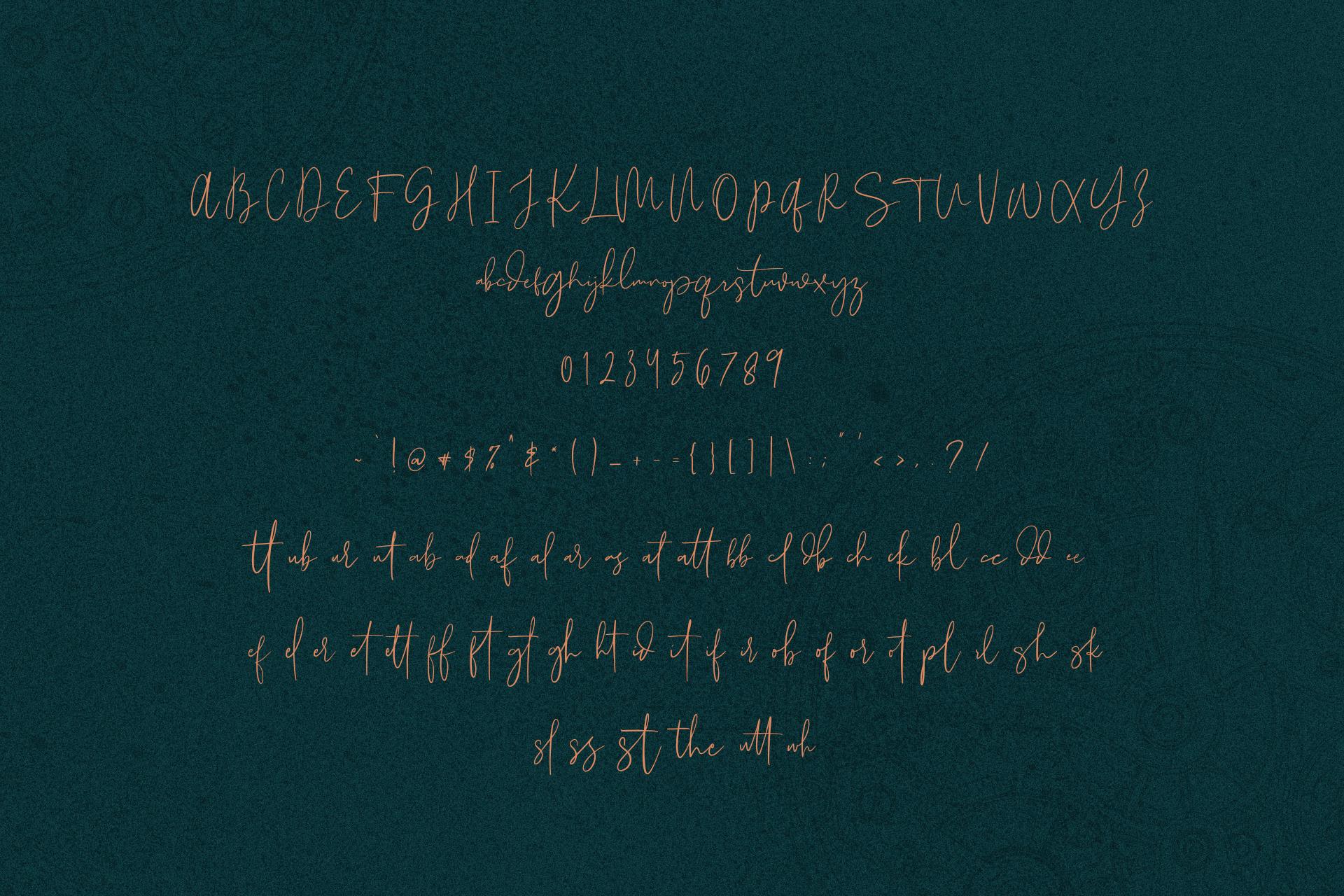Morgarets Script Font example image 9