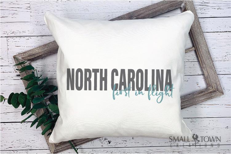 North Carolina, First in Flight-slogan, PRINT, CUT & DESIGN example image 5